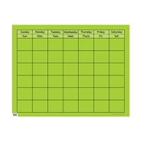 Lime Green Large Calendar Chart, CTP1058