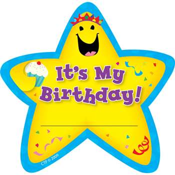 Star Badges Its My Birthday 36/Pk By Creative Teaching Press