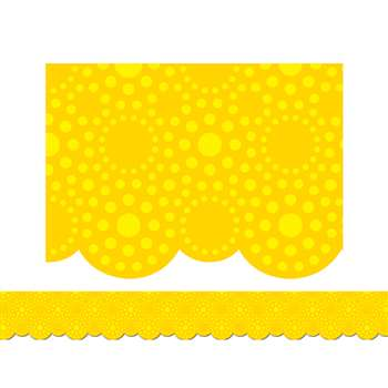 Lots Of Dots Yellow Border By Creative Teaching Press