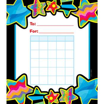 Poppin Patterns Stars Student Incentive Chart By Creative Teaching Press