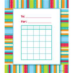 Stripes & Stitches Incentive Chart Dot By Creative Teaching Press