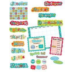 Dots On Turquoise Calendar Bulletin Board Set By Creative Teaching Press