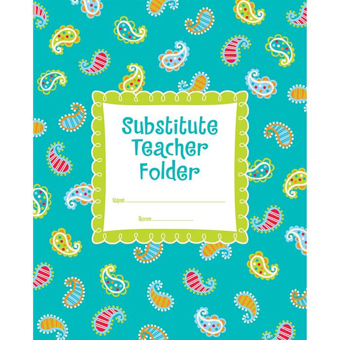 Dots On Turquoise Substitude Teacher Folder By Creative Teaching Press