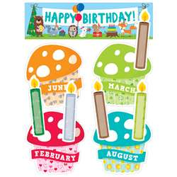Happy Birthday Mini Bulletin Board Set Woodland Fr, CTP1758