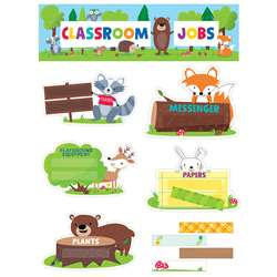 Classroom Jobs Mini Bulletin Board Set Woodland Fr, CTP1759