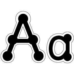 Letters Dot-To-Dot Uppercase Black By Creative Teaching Press