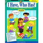 I Have Who Has Math Gr K By Creative Teaching Press