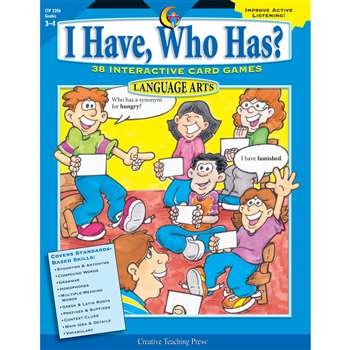 Language Gr 3-4 I Have Who Has Series By Creative Teaching Press
