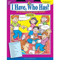 Math Gr 34 I Have Who Has Series Eries By Creative Teaching Press