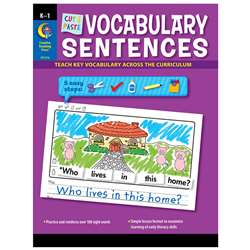 Cut & Paste Vocabulary Sentences, CTP2216