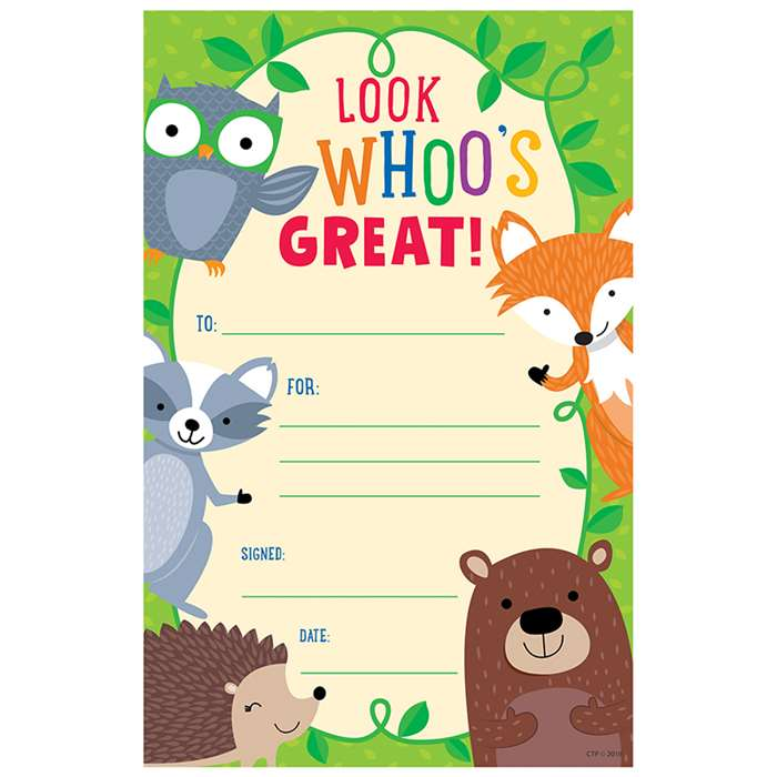Woodland Friends Award, CTP2527