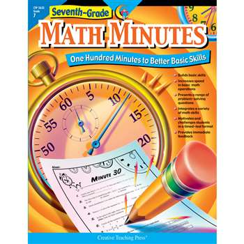Seventh-Grade Math Minutes By Creative Teaching Press