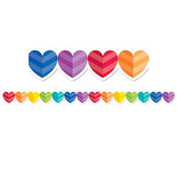Rainbow Hearts Border, CTP2678