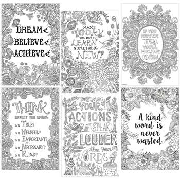 Color Me Inspire U 6 Poster Pack, CTP3193