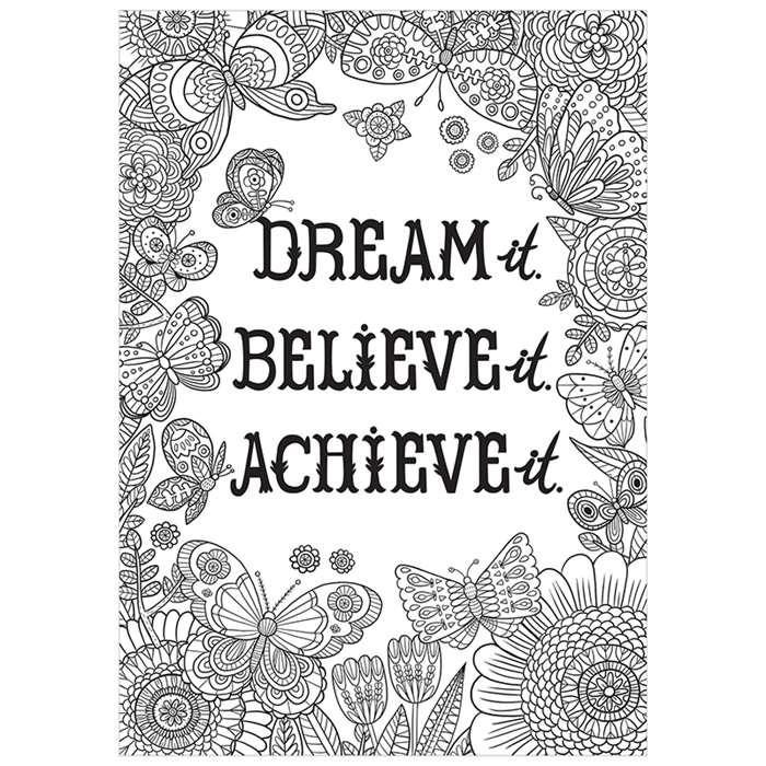 Dream It Believe It Achieve It Inspire U Poster, CTP3195