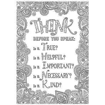 Think Before You Speak Inspire U Poster, CTP3198