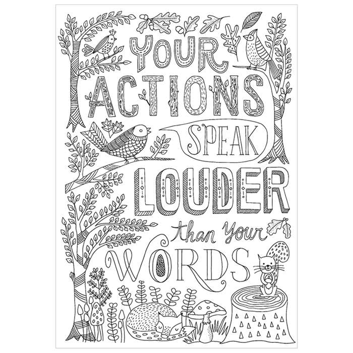 Your Actions Inspire U Poster, CTP3199