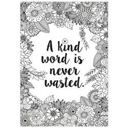 A Kind Word Is Never Wasted Inspire U Poster, CTP3200