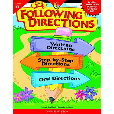 Following Directions Grade 3-4 By Creative Teaching Press