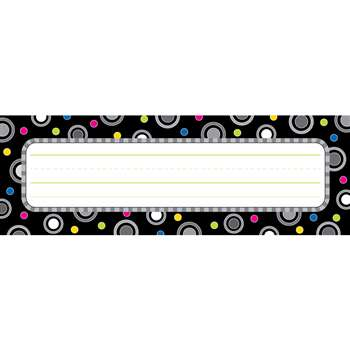 Polka Dot Party Black And White Name Plates By Creative Teaching Press
