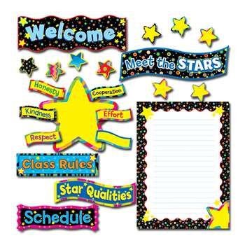 Back To School Stars Bulletin Board Set By Creative Teaching Press