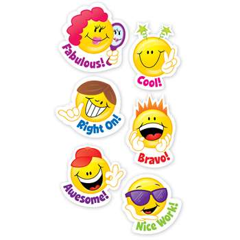 Smiley Faces Stickers By Creative Teaching Press
