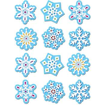 Snowflakes Stickers By Creative Teaching Press