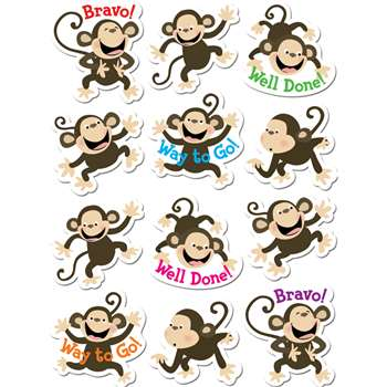 Monkeys Stickers By Creative Teaching Press