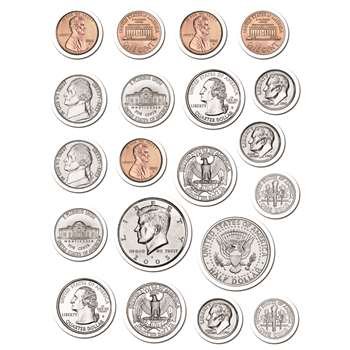 Coins Stickers By Creative Teaching Press