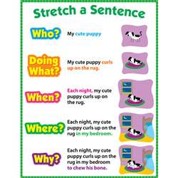 Stretch A Sentence Chart Gr 1-3 By Creative Teaching Press