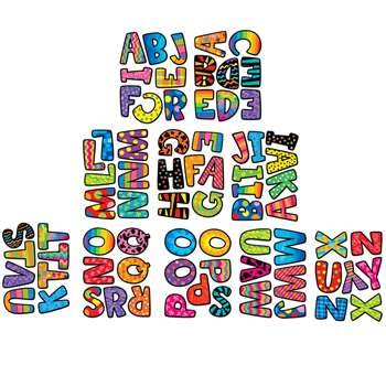 Poppin Patterns Multi Designs 2In Letter Stickers By Creative Teaching Press