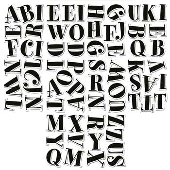 Black Spumoni 2In Letter Stickers By Creative Teaching Press