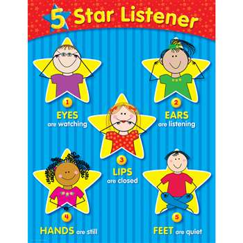 5-Star Listener Small Chart By Creative Teaching Press