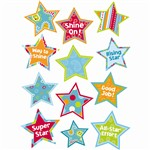 Dots On Turquoise Stars Stickers By Creative Teaching Press