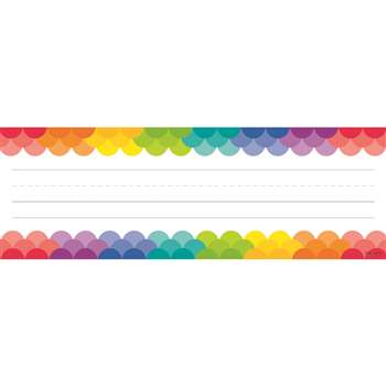 Rainbow Scallops Name Plates, CTP4401