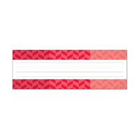 Ombre Poppy Red Herringbone Name Plates - Paint, CTP4453