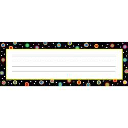 Dots On Black Name Plates By Creative Teaching Press