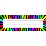 Rainbow Stripes Name Plates By Creative Teaching Press
