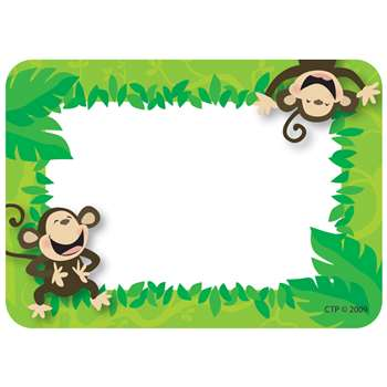 Monkey Business Name Tags By Creative Teaching Press
