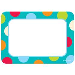 Dots On Turquoise Name Tags By Creative Teaching Press