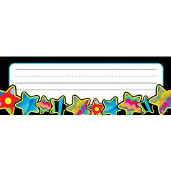 Poppin Pattern Stars Name Plates By Creative Teaching Press