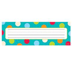 Dots On Turquoise Name Plates By Creative Teaching Press