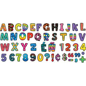 Poppin Patterns Multi-Designs Upper Case Letters Stickers By Creative Teaching Press