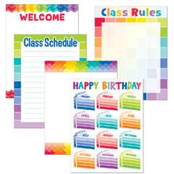 Painted Palette Classroom Essentials Chart Pack, CTP4710