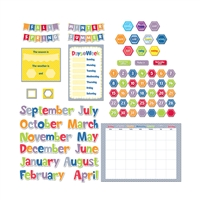 Hexafun Calendar Set Bulletin Board, CTP4729