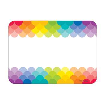 Painted Palette Rainbow Labels Scallops, CTP4821