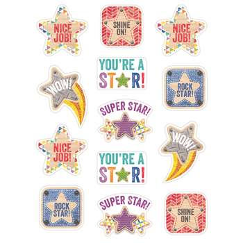Star Reward Stickers Upcycle Style, CTP4838