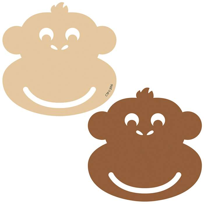 "Monkey 3"" Calendar Cut Outs, CTP4901"