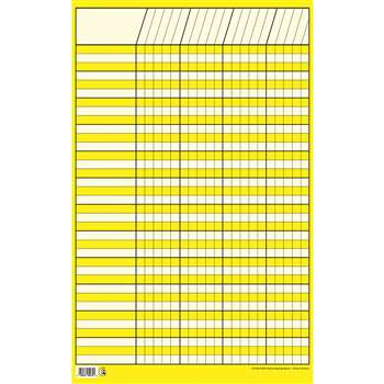 Chart Incentive Small Yellow 14 X 22 Vertical By Creative Teaching Press
