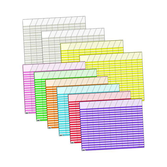 Large Horizontal Incentive Chart 10Pk 22 X 28 Assorted By Creative Teaching Press
